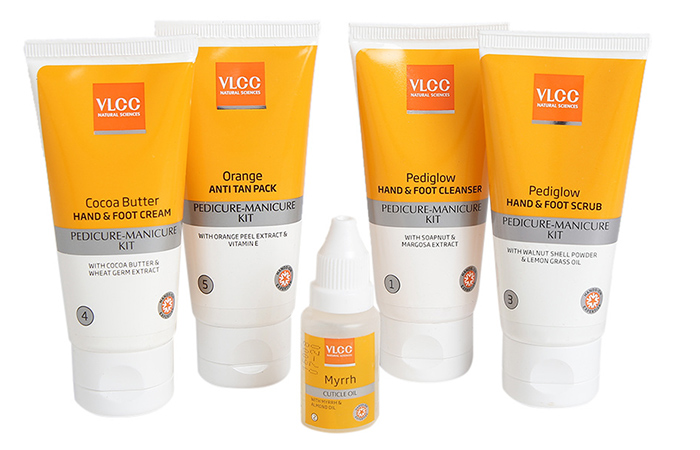 Different Products In VLCC Pedicure & Manicure Kit