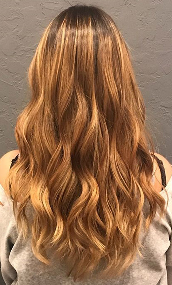 Balayage Honey Blonde Hair