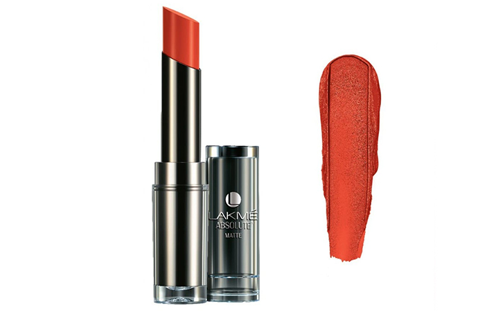 Lakme Absolute Sculpt Studio Hi-Definition Matte Lipstick Shades - Coral Flare