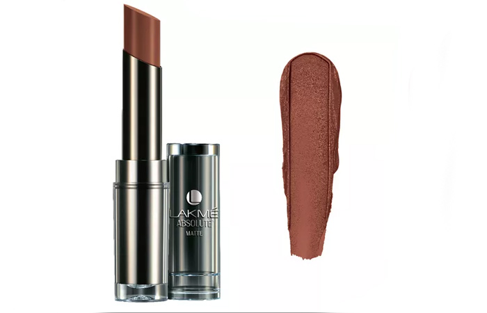 Lakme Absolute Sculpt Studio Hi-Definition Matte Lipstick Shades - Deep Caramel