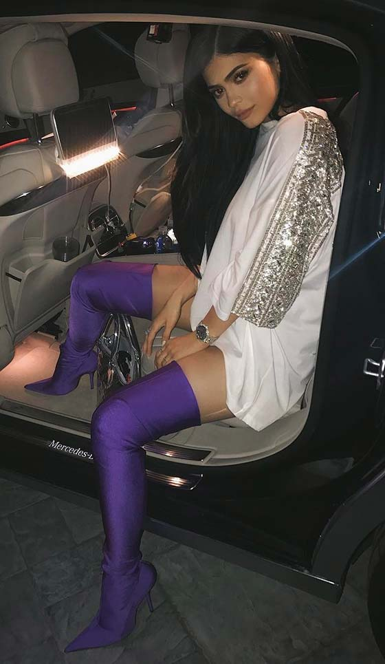 Kylie Jenner In Neon Accents