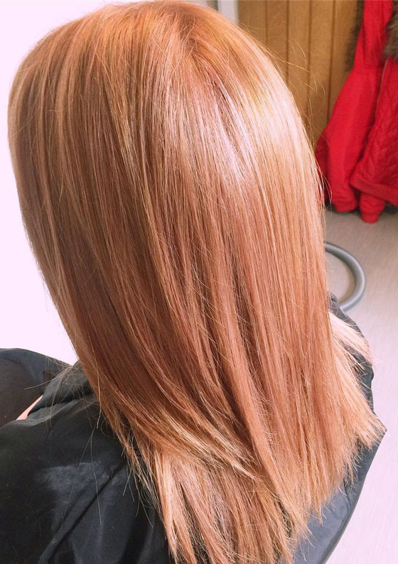 Shade Of Strawberry Blonde Haircolor