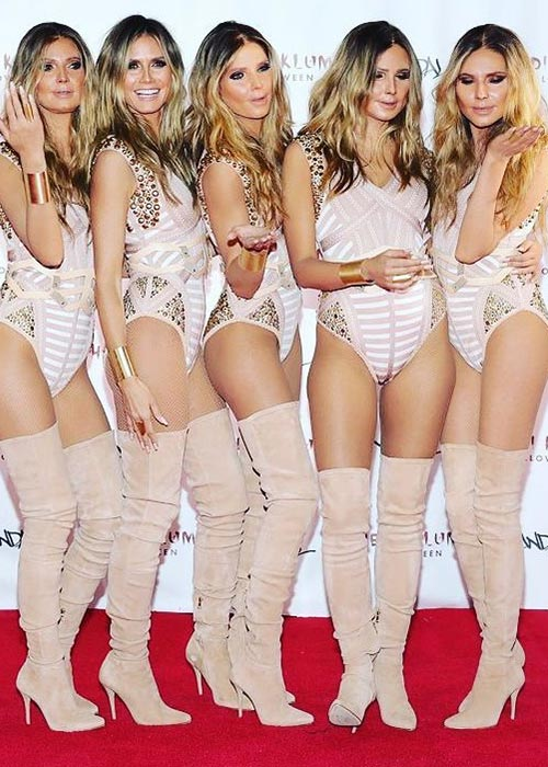 1. 2016 - Heidi Klum With Five Clone Models, Because We Can't Get Enough Of Her