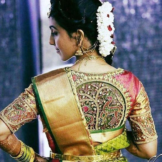 a136a4d34fa0a 50 Latest Silk Saree Blouse Designs Catalogue 2019