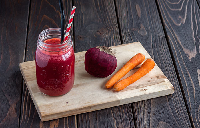 10. Carrot, Beetroot, Cucumber, Apple, Parsley, Celery, And Ginger