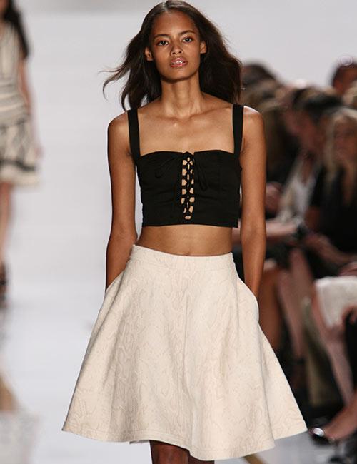 How To Wear A Crop Top - Crop Top With Peplum Skirt