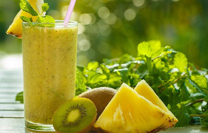 14. Pineapple, Kiwi, Cucumber, And Lemon