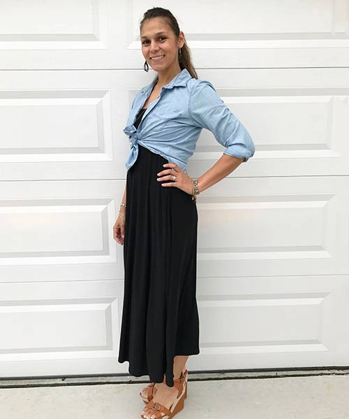 How To Wear A Maxi Skirt - Lularoe Maxi Skirt Converted Into A Tube Top