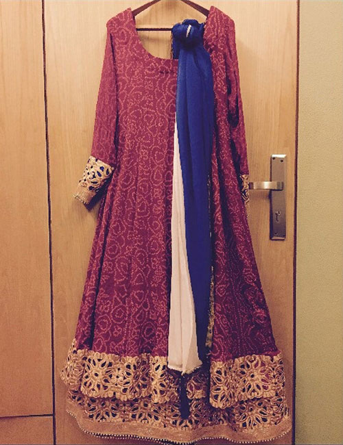 2. Get A Salwar Suit Made From Old Sarees