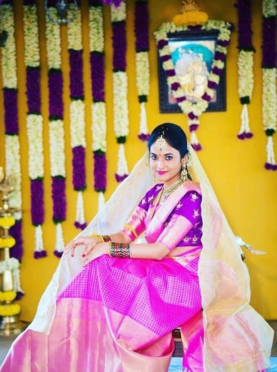 24. Traditional Wedding Blouse With Border