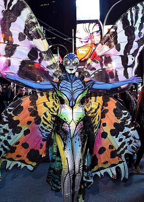 3. 2014 - Heidi Klum Altered Into A Gigantic Butterfly And A Really Convincing One