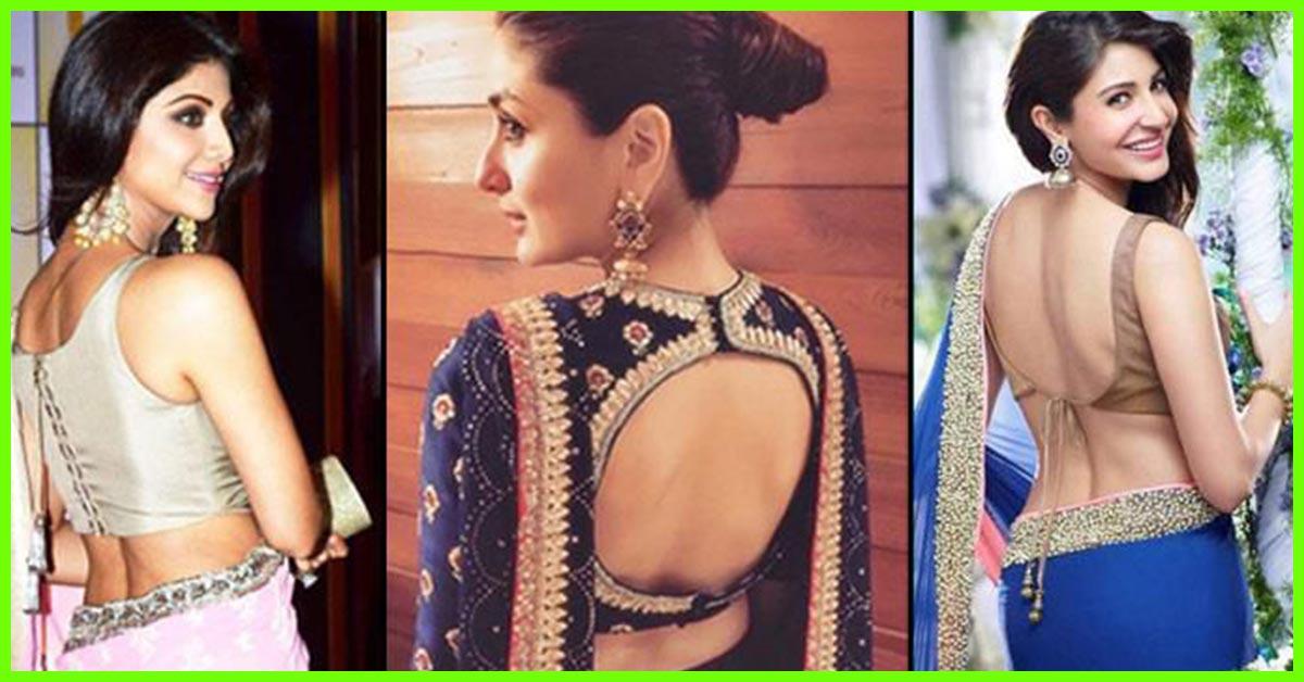 30 latest blouse back neck designs 2018