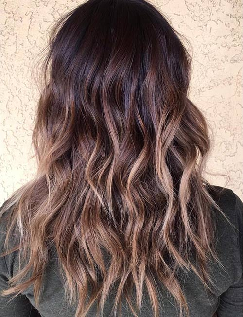 4. Bronze Balayage Highlights