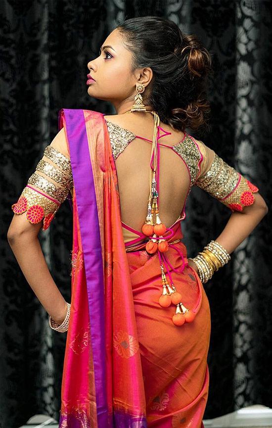 a9f473d7ac242 50 Latest Silk Saree Blouse Designs Catalogue 2019