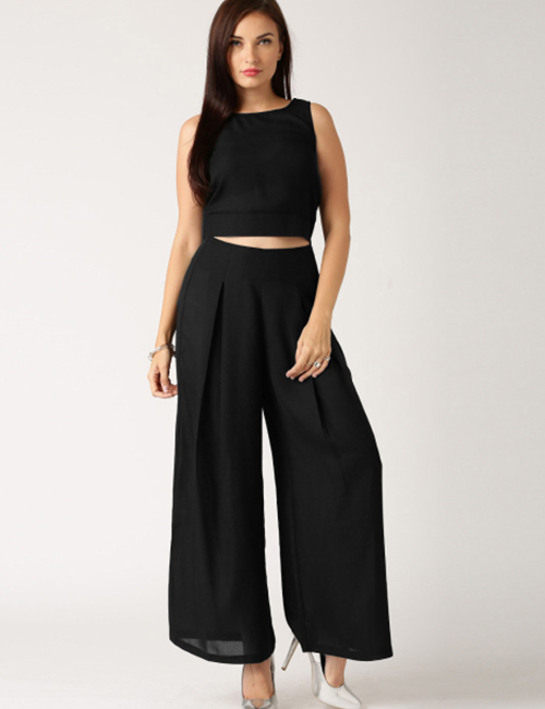 0285a990d41e3 How To Wear A Crop Top - Crop Top With Palazzo