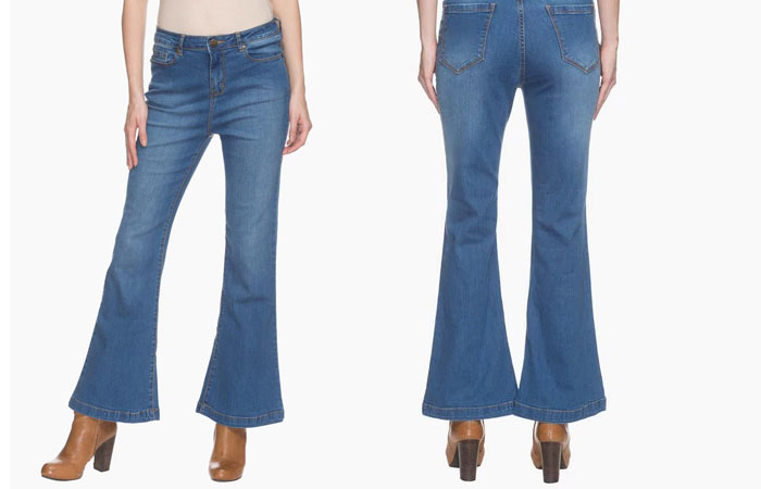 6. Flared Jeans