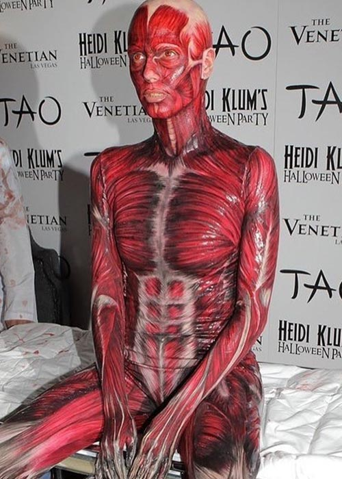 6. 2011 - Heidi Klum In A Skinless Bodysuit, Goosebumps