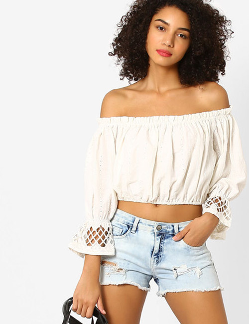 7. Crop Top With Shorts