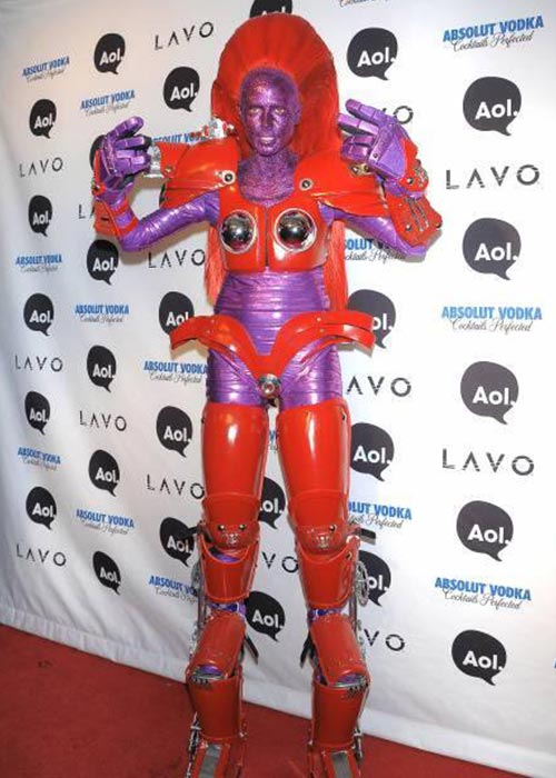 8. 2010 - Heidi Klum's Transformation Into An Alien Transformer