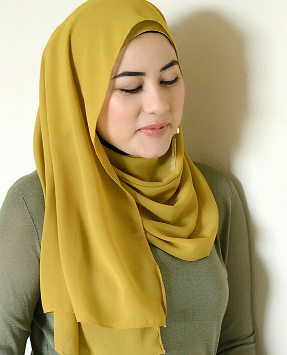 Hijab Style For Big Face