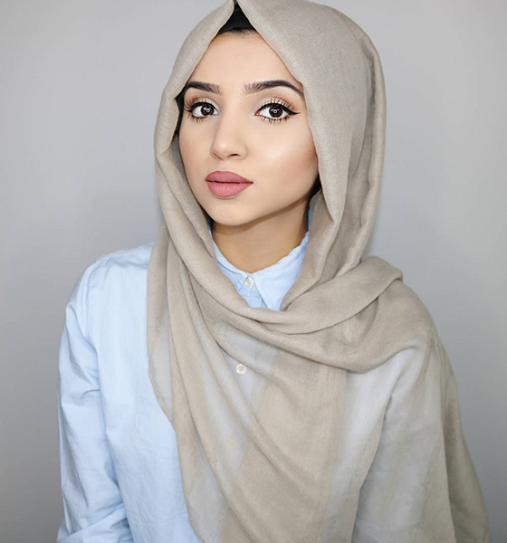 Hijab Style For Triangular Face