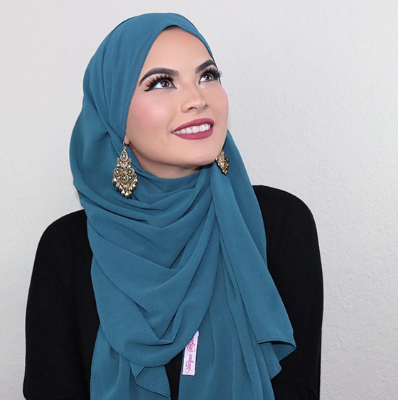 Hijab To Show Earrings