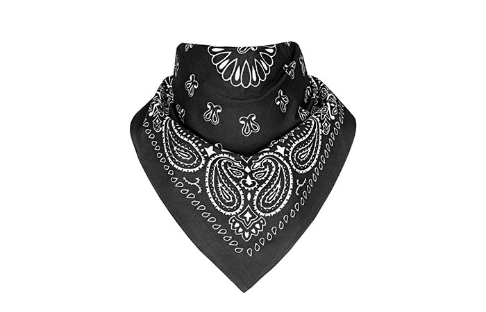 How To Wear A Bandana - Large Triangular Neck Piece Bandana