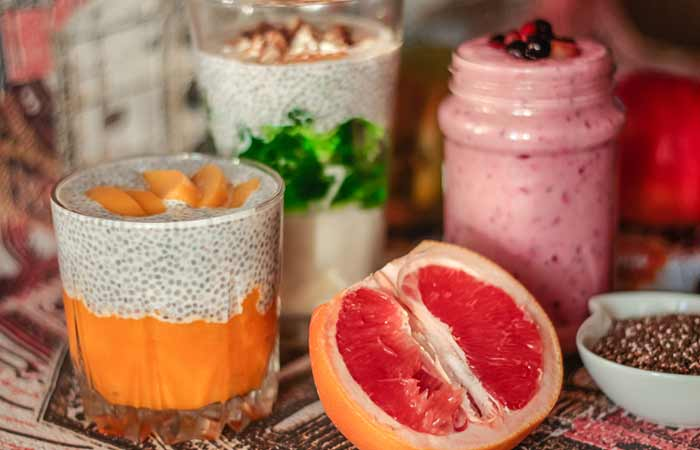 DASH Diet Recipes - Breakfast Fruit And Chia Smoothie Recipe