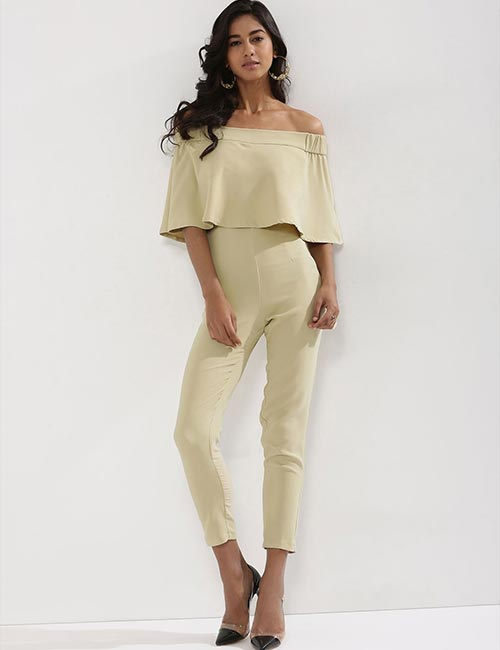 10. Off Shoulder Jumpsuit