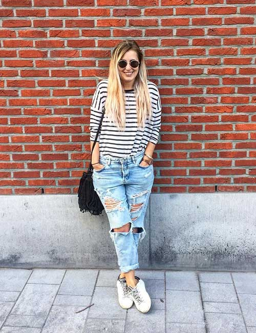 598dd29a166 How To Wear Boyfriend Jeans – Outfit Ideas