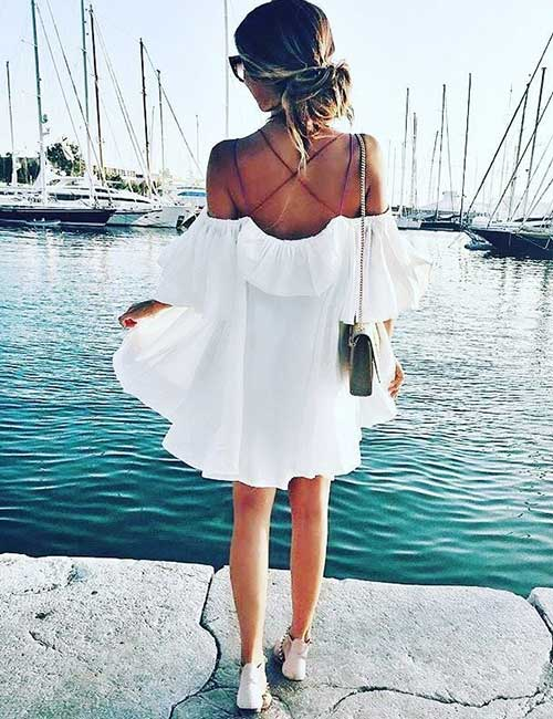 11. Under Off Shoulder Dresses