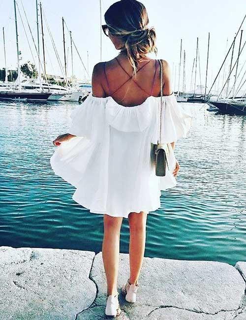 11. Under Off Shoulder Dresses