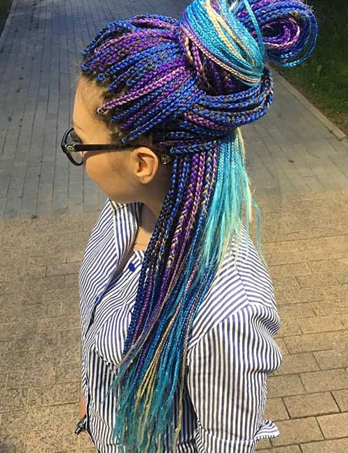 12. Unicorn Micro Braids