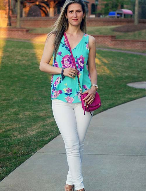 12. With Floral Tops For Spring
