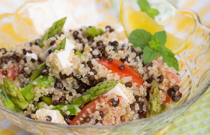 DASH Diet Lunch Quinoa Tofu Salad Recipe