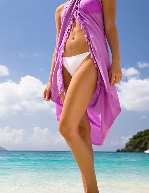 How To Wear A Sarong - Front Open Halter Style