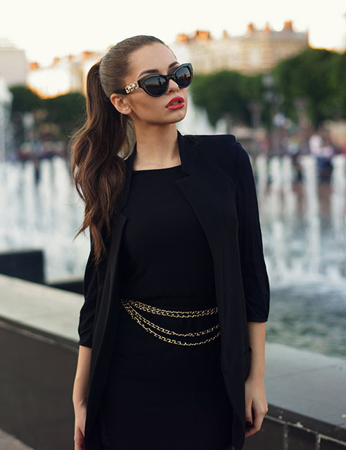 2. Long Black Dress Or An LBD To Your Rescue
