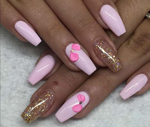 Bow Accent 3D Acrylic Nails