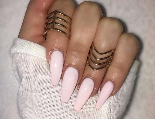 Pastel Pink Acrylic Nails