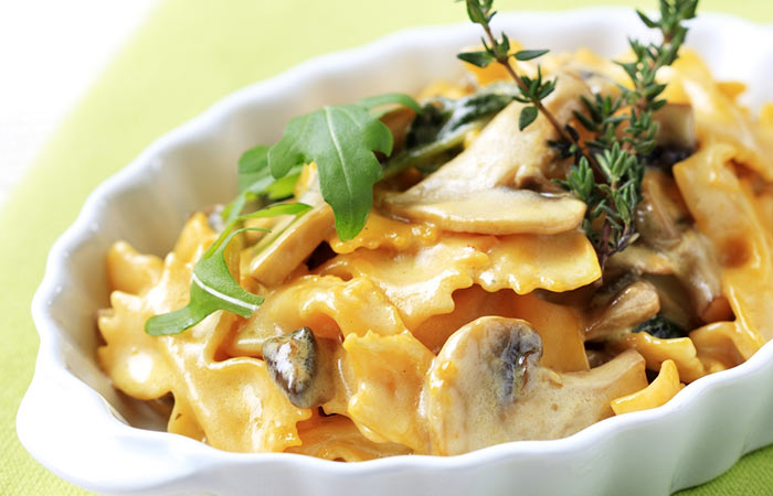 Low GI Diet Recipes - Mushroom Wheat Pasta