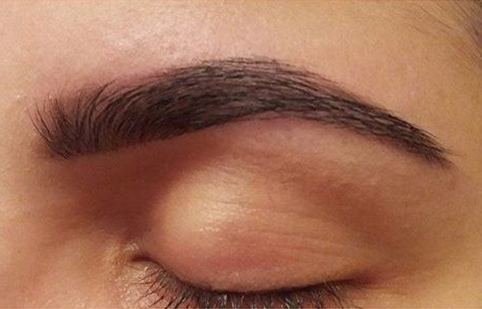 Simple Tinting of Eyebrows - Step 5: Clean The Brows