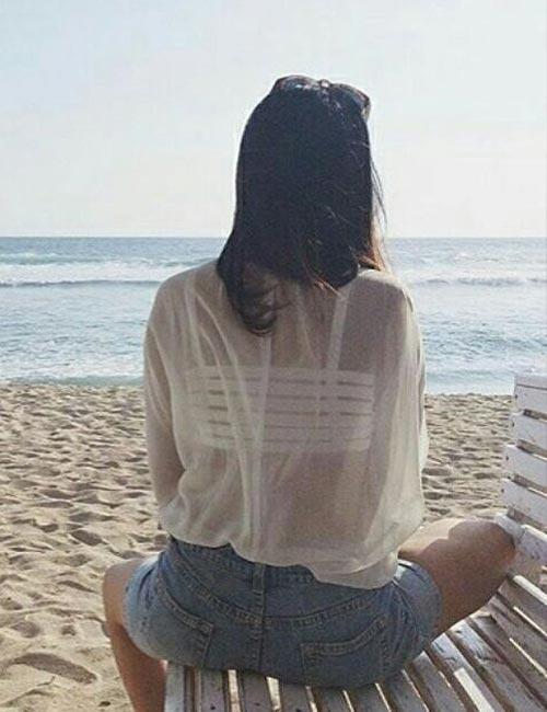 4. Under A Sheer White Shirt