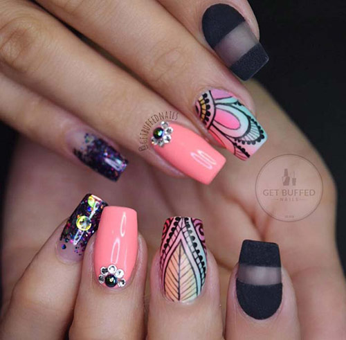 Designer Acrylic Nails