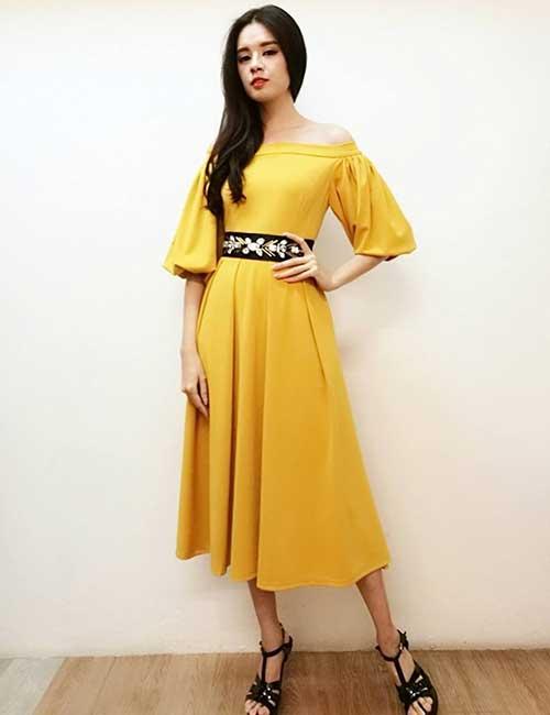 5. Off Shoulder Evening Dress