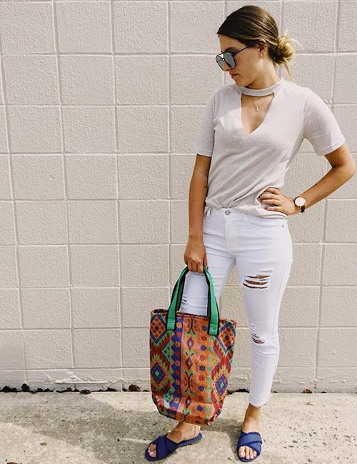 What To Wear With White Jeans - Outfit Ideas d825ade3e