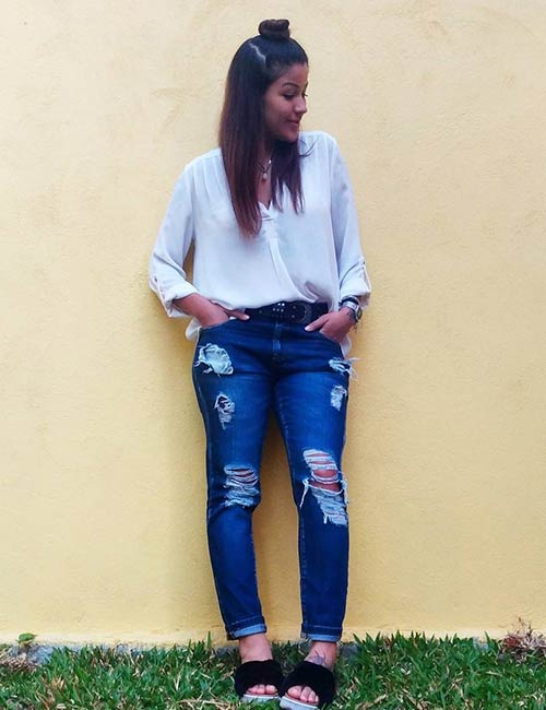 18a2fd6300 How To Wear Boyfriend Jeans – Outfit Ideas
