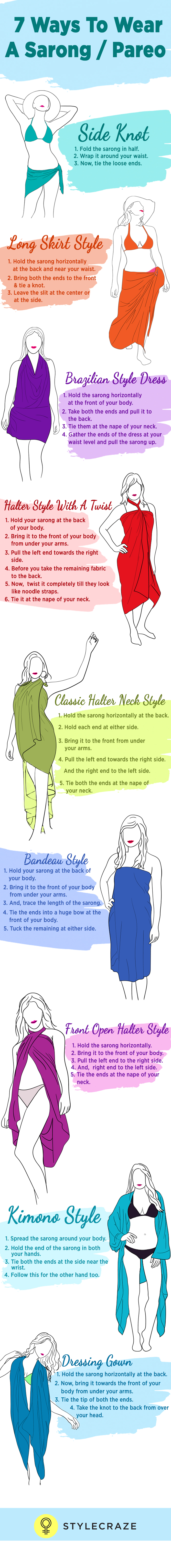 How To Wear A Sarong - 9 Ways Of Wearing A Sarong