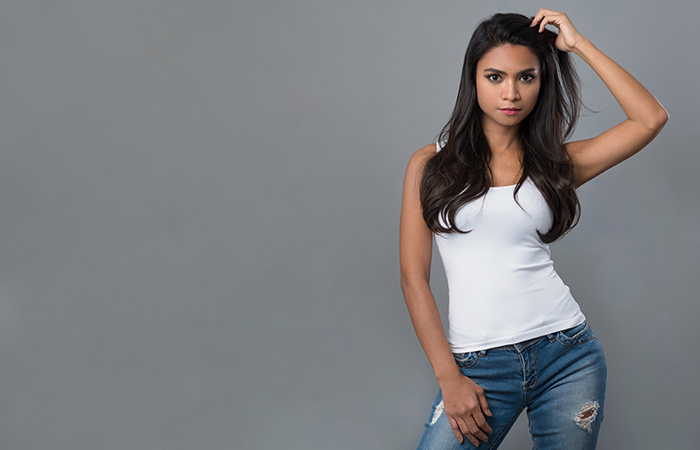 9. Forever In Blue Jeans (And A White Tank Top)
