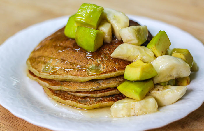 Avocado Recipes - Avocado Wheat Flour Pancakes