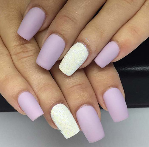 50 creative acrylic nail designs with step by step tutorials matte lavender and snow nails acrylic nail art tutorials prinsesfo Choice Image